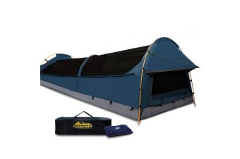 Weisshorn XXL King Single Size Canvas Camping Tent - Dark Blue