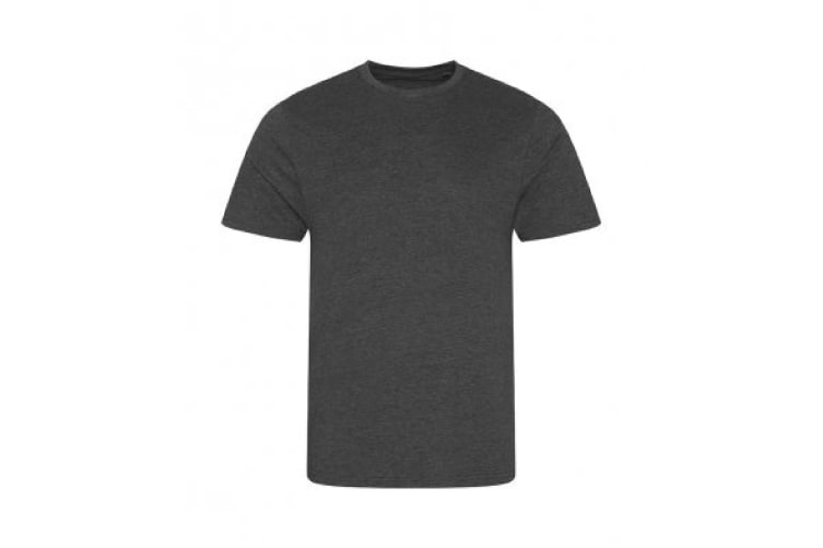 AWDis Mens Slub T Shirt (Slub Charcoal) (Medium)