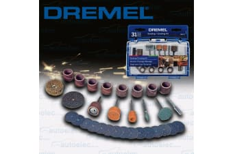 DREMEL 31 PIECE ROTARY MULTI TOOL SANDING GRINDING GRINDER ACCESSORY KIT 686-01