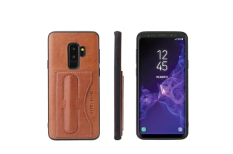 For Samsung Galaxy S9 Case Fierre Shann Luxury Durable Protective Cover Brown