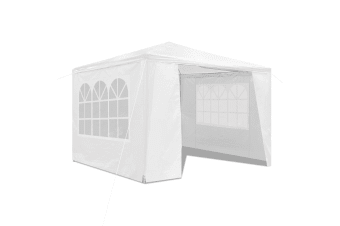 3x3M Outdoor Party Wedding Tent Canopy Gazebo with Walls - White