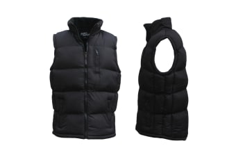 New Men's Hooded Puffy Puffer Sleeveless Jacket Winter Thick Vest Quilted Jacket - 0