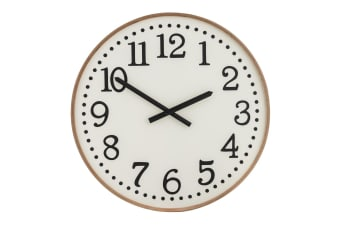 Amalfi Thomas 60cm Analogue Beech Wood Wall Clock Home Decor Mountable White