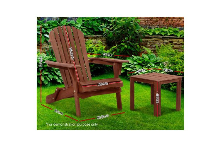 Outdoor Lounge Patio Furniture Chairs Table Wooden Beach Adirondack