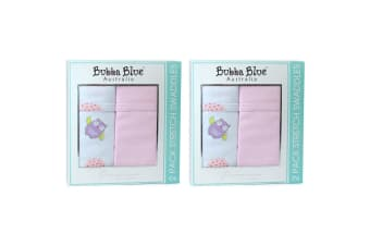 Bubba Blue Girl Baby Owl & Jersey Wrap Pink Stretch Swaddles - 4 Pack