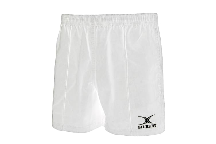 Gilbert Rugby Mens Kiwi Pro Rugby Shorts (White) (S)