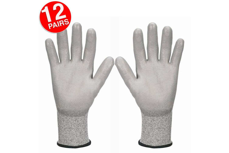 12PK Jackson Size 9/L Safety Work Gear G60 Level 5 Cut Resistant Gloves Hands