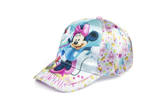 Minnie Mouse Childrens/Girls Ice Cream Stand Baseball Cap (Aqua/Pink)