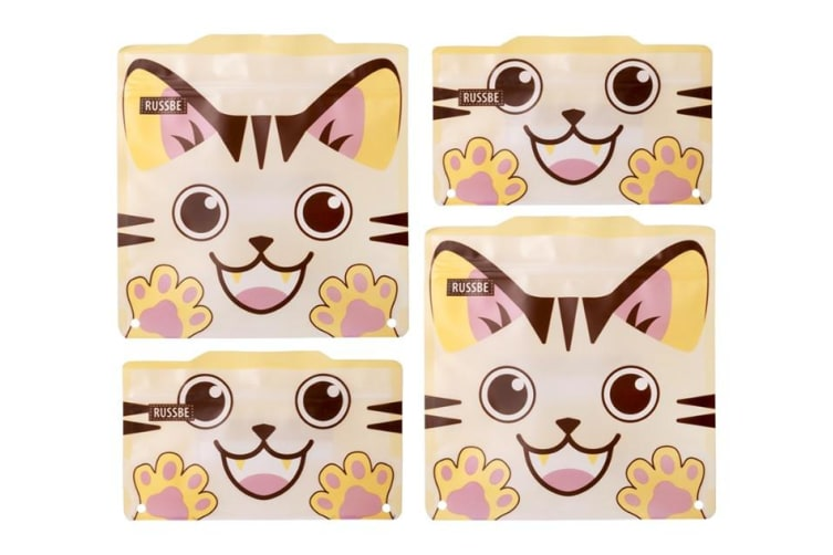 Russbe Snack & Sandwich Bag Set of 4 Cat