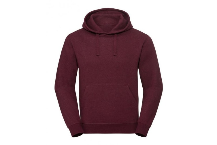 Russell Unisex Authentic Melange Hooded Sweatshirt (Burgundy Melange) (3XL)