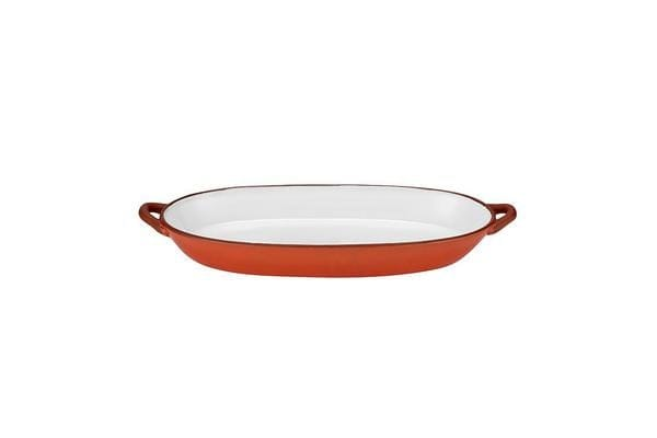 Ladelle Tapas Oblong Handled Platter 37x14cm Burnt Orange