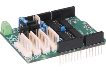 7 Segment 4 Digit LED Driver Shield Kit ideal for building an Arduino controlled clock or counter