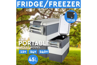 45L Portable Fridge Freezer 12V/24V/240V Camping Car Boating Caravan Bar Fridge