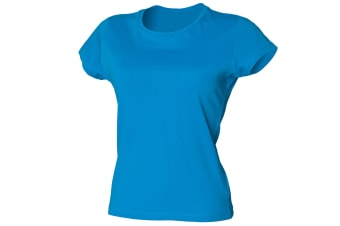 Skinni Fit Ladies/Womens Favourite Longer Length T-Shirt (Sapphire Blue)