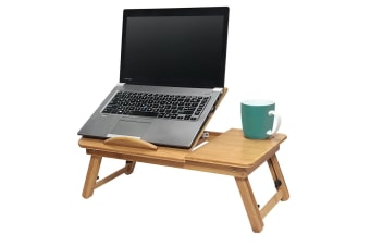 Deluxe Bamboo Laptop Table