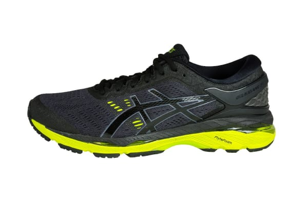 ASICS Men's Gel-Kayano 24 Running Shoe (Black/Green Gecko/Phantom, Size 9.5)