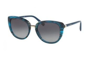 Bvlgari BV8177 53mm - Striped Blue (Grey Shaded lens) Womens Sunglasses