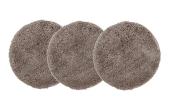 Pack of 3 Freckles Round Shag Rugs Beige