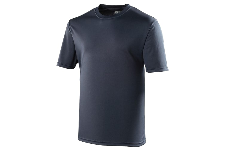 Just Cool Mens Performance Plain T-Shirt (French Navy) (4XL)