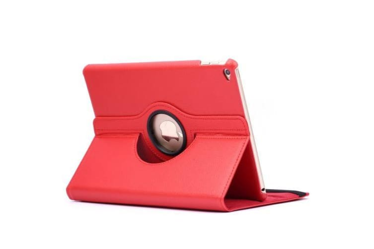 For iPad Air 2 Case Modern Flip Leather High-Quality Shielding Cover Red