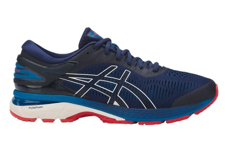 ASICS Men's Gel-Kayano 25 Running Shoe (Indigo Blue/White, Size 8)