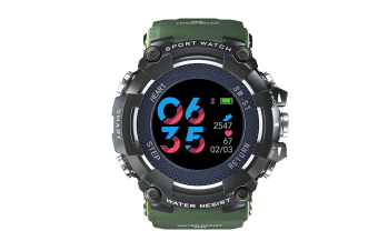 Bluetooth Smart Watch Sleep Monitoring Waterproof Watch Green