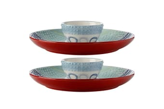 2x Maxwell & Williams 30cm Laguna Chip Dip Bowl Serving Food Platter Gift Boxed