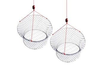 2 X New Wilson Ready Rigged Wire Bottom Marron Nets-2 Rings With Float And Rope
