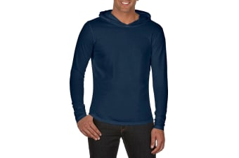 Comfort Colors Unisex Adults Heavyweight Hooded Tee (True Navy) (XXL)