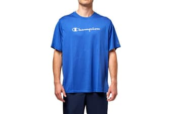 Champion Men's Heritage Script Tee (Surf the Web Heather)