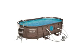 Bestway Above Ground Pool Steel Frame Pool Set with Filter Pump 4.27 x 2.5 x 1M