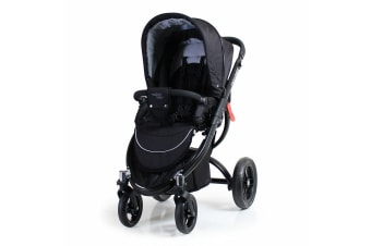 Valco Baby Rebel Q Ex Pram/Stroller Foldable/Recline for Baby/Infant Black