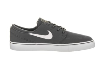 Nike Men's SB Zoom Stefan Janoski Canvas Shoe (Dark Grey/White, Size 8)