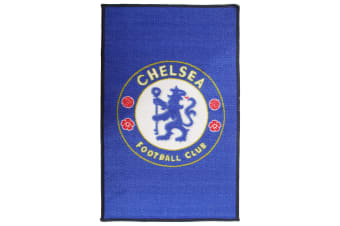 Chelsea FC Official Printed Football Crest Rug (Blue)
