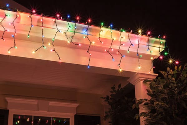 100 Solar LED Decorative Curtain Lights - Colour