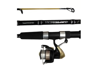 Shimano Hyperloop Fishing Rod and Reel Combo - 2 Piece Spin Combo [Length/Rating/Reel Size: 6'6/2-4kg/2500 Reel]