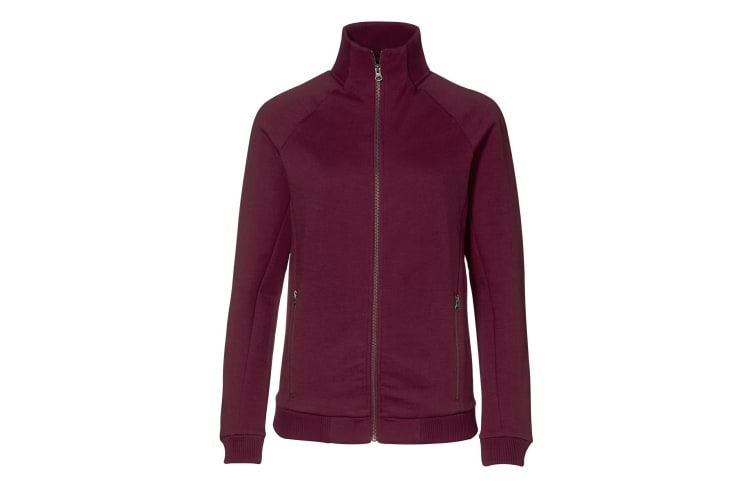 ID Womens/Ladies Regular Fit Full Zip Fleece Jacket (Bordeaux) (2XL)