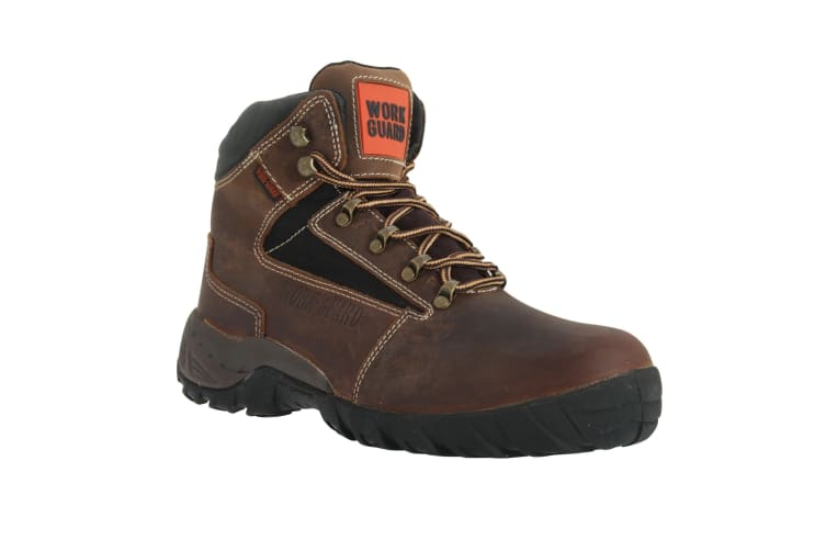 Result Mens Work-Guard Carrick Lace Up S1P Safety Boots (Brown) (7 UK)