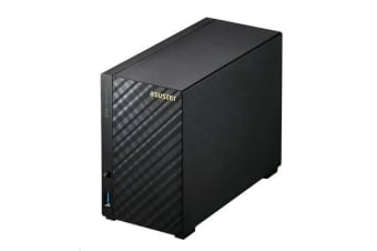 Asustor AS-1002T 2 Bay NAS Tower - Marvell Armada-385 Dual Core - 512MB DDR3 - 3Yr