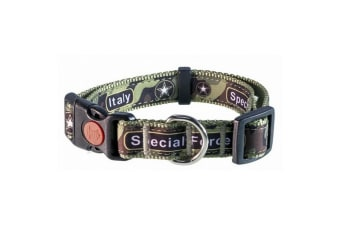 Michi Special Forces Dog Collar (Green Camo)