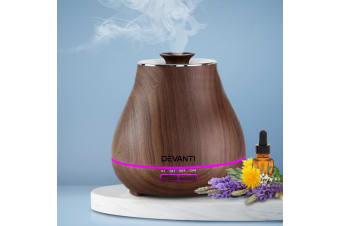 Devanti Aromatherapy Diffuser Humidifier Aroma Essential Oils Ultrasonic Oil