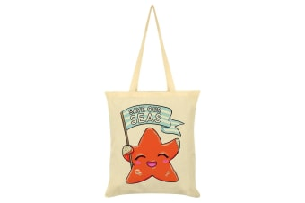 Grindstore Save Our Seas Tote Bag (Cream) (One Size)