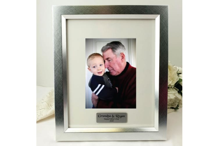Grandpa Personalised Photo Frame 5x7 Photo Silver