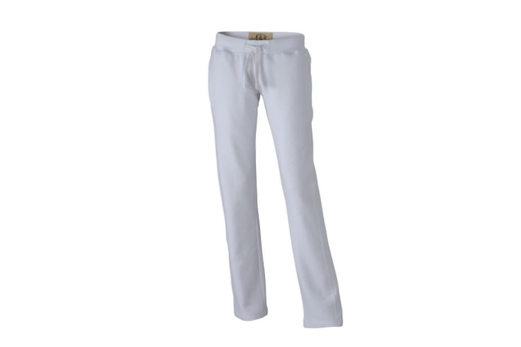 James and Nicholson Womens/Ladies Vintage Pants (White) (XL)