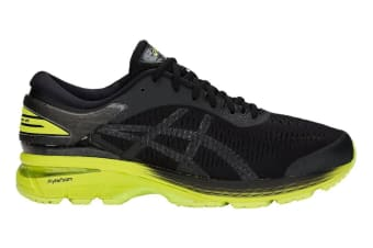 ASICS Men's Gel-Kayano 25 Running Shoe (Neon Lime/Black, Size 9.5)