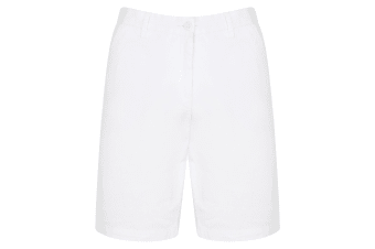 Front Row Mens Cotton Rich Stretch Chino Shorts (White) (34)