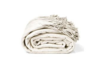 Royal Comfort Egyptian cotton throw blanket Ivory