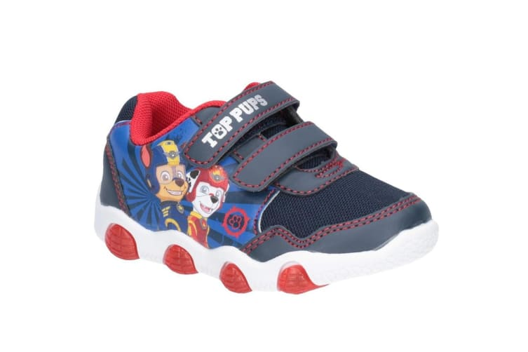 Leomil Paw Patrol Childrens Boys Chase And Marshall Touch Fastening Trainer (Navy) (7 Child UK)