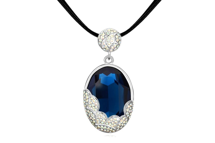 Triumph Sapphire Choker Necklace Embellished with Swarovski crystals