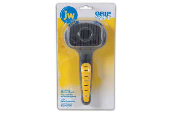 Self Cleaning Slicker Cat Brush by JW Grip Soft